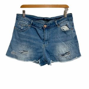 Forever 21 stretch distressed jean shorts SH 369